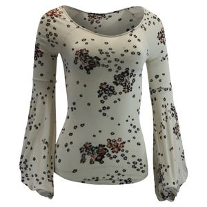Free People To The Tropics Printed Top Ivory